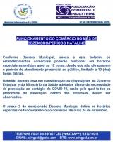 DECRETO - HORÁRIO FUNCIONAMENTO DO COMERCIO NO NATAL